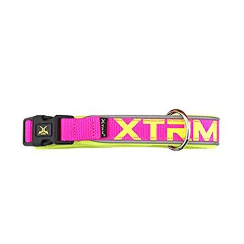 Collar X-TRM Neon Flash Fucsia 15mm x 28-35cm