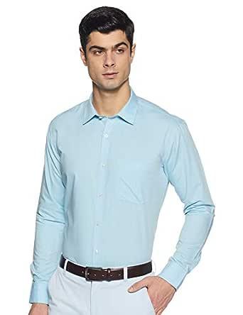 Amazon Brand - Symbol Men's Solid Slim Fit Full Sleeve Formal Shirt