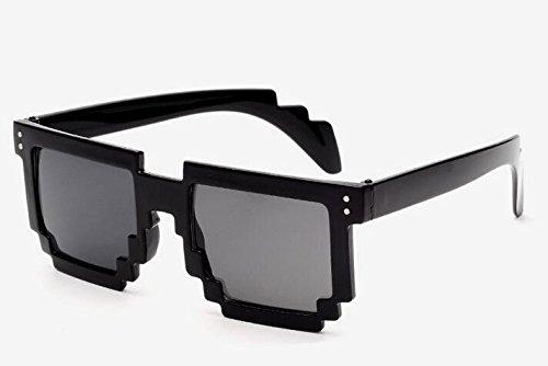 Preisvergleich Produktbild Computer Brillen Pixelated Pixel Skin Black Sun Computer Geek Brillen Pixel Retro 8163264128Bit glänzend Pixel gerahmt The Informatik Crowd das Ideal Geek Weihnachten Geschenk