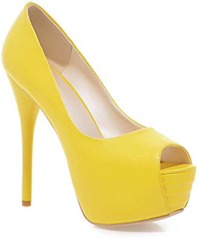 Sconosciuto 1TO9 Scarpe Col Tacco Donna Giallo (giallo), 39.5 EU, MMS02748 | Il Prezzo Ragionevole  | Scolaro/Ragazze Scarpa