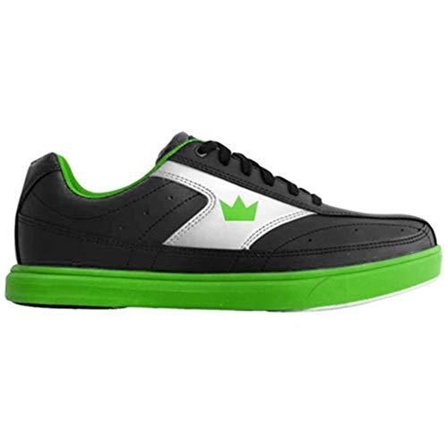 Brunswick Herren Bowling-Schuhe Renegade, M US, Schwarz/Neongrün, 41 EU