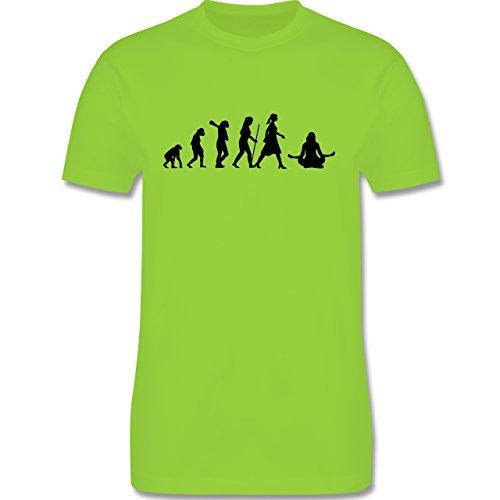 Evolution - Meditation Evolution - Herren Premium T-Shirt Hellgrün