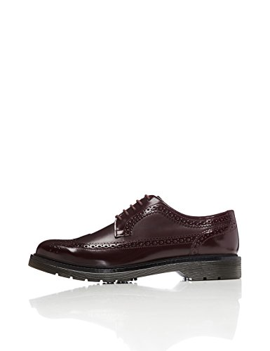 FIND Men's Abbott Brogue Shoes, Red (Burgundy), 8 UK