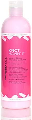 Aunt Jackie's Girls Knot Havin' It, Leave-in Ultimate Hair Detangler, For Daily Use for Naturally Curly Hair, 12 Ounce