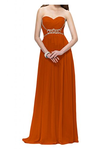 Toscana sposa donna moda a forma di cuore perla Chiffon stanotte vestiti per sposa giovane a lungo Party Ball Bete vestimento Arancione