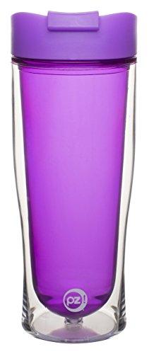 Zak! Designs Insulated Travel Tumbler, 15-Ounce, Cruise Purple Plum Design by Zak Designs