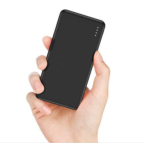 FKANT 【Neuste Modell】 Powerbank 10000mAh Externer Akku mit Dual Output 6A Ports Schnellladung Portable Ladegerät mit 4 LEDs Power Bank Handy für iPhone Huawei Samsung iPad und mehr Smartphones