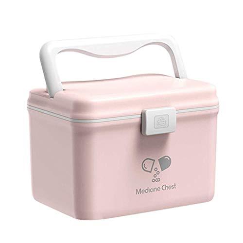 MXK Kunststoff Medizin Schrank Lagerung Droge Aufbewahrungsbox Erste-Hilfe-Kasten Kasten Multifunktionale Medizin Brust 15x15,3x21 cm (Color...