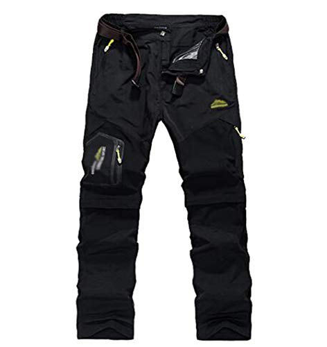YiLianDaD Hombres Pantalone De Trekking Impermeable