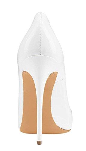 Escarpins Pointu Soir EDEFS Fête Femmes Chaussures Bout Talon Élégant Blanc Sexy Haut Chaussures Iq6w4qx