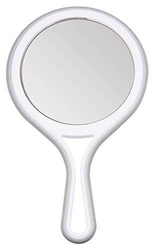 Titania–Espejo de mano con espejo normal y 5 aumentos, 1 unidad de 245g