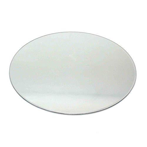 Floral-Direkt 2 Spiegel B-Ware 40cm rund Spiegeluntersetzer Spiegelplatte Spiegelteller II.Wahl