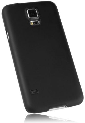 mumbi Schutzhülle für Samsung Galaxy S5 / S5 Neo Hülle (gummierte harte Rückseite) matt schwarz