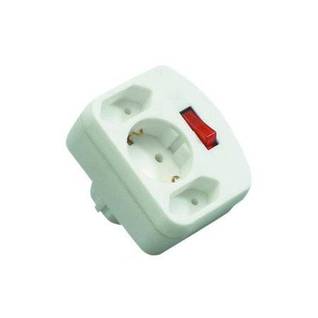 Preisvergleich Produktbild Rev Ritter 00135101 Adapter 2+1 mit Schalter, weiß