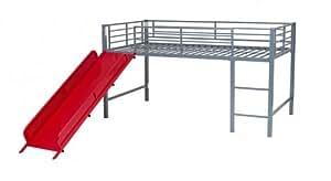 Métal pour lit superposé mi-hauteur avec toboggan cabine Play Cadre de lit simple