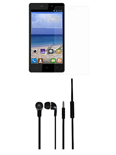 CELLMATE Tempered Glass Screen Guard Screen Protector & Super Bass Headphone Combo for Gionee M3  available at amazon for Rs.399