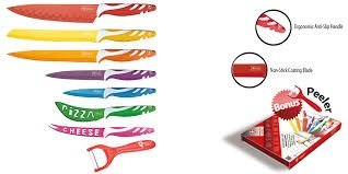 Royalty Line Switzerland-Juego de 7 cuchillos y 1 pelador