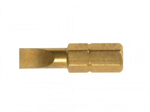 Preisvergleich Produktbild Faithfull - Titan Schraubendreher Bits Schlitz 5mm x 25mm Pack 25 - FAISBSL5