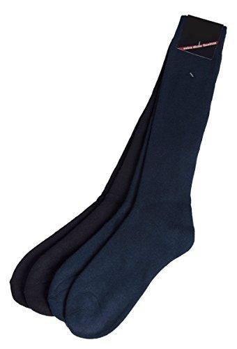 Unbekannt -  Calzettoni  - Basic - Uomo Schwarz/Marineblau