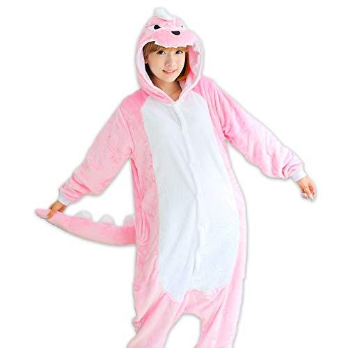 DUKUNKUN Tier Onesies Frauen Korallen Samt Niedlichen Cartoon Frauen Pyjama-Sets-XL (Onesies Frauen Niedlichen)