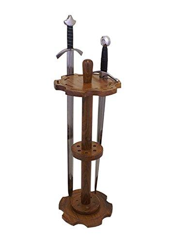 Battle-Merchant Schwertständer Rund für 12 Schwerter, Holz Ständer Display Halter