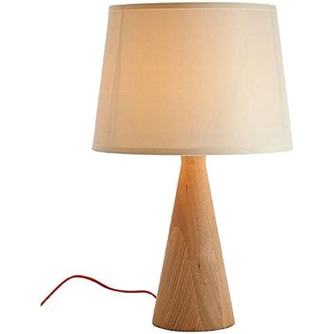 SuperStudio Agapo - Lámpara de sobremesa, madera de haya