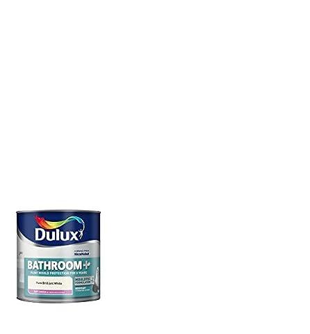 DULUX 5092175de Salle de Bain Plus Brillante 2,5L–Peinture Blanc Pure Brillant