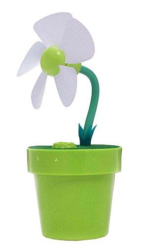 Kreative Mini-USB-Befeuchter Tragbarer Luftbefeuchter und Lüfter Blumen Grün