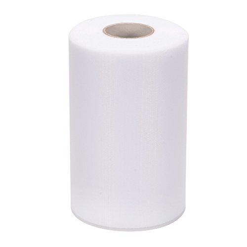 Lintimes Tüll Stoff Rolle, Tischband Tüllnetz Rolle für Hochzeitsdekoration (Weiß) - 6Inch * 200 Yards