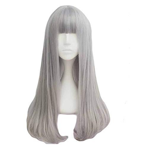 Fading Ash gris 65 cm 2 cosplay ton pleine perruque de longs cheveux bouclés
