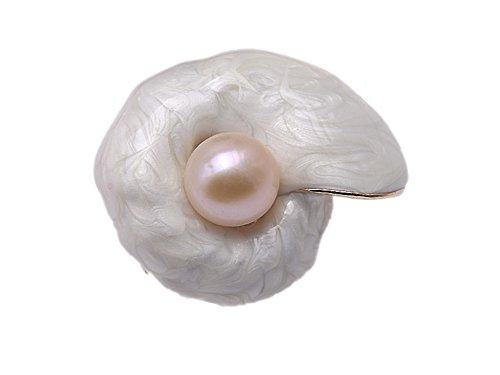 JYX Pearl  -    Kupfer  Rund Süßwasser-Zuchtperle  Perle  (Cameo-pins Und Broschen)