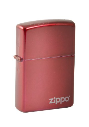 Original ZIPPO Feuerzeug CANDY APPLE RED mit LOGO