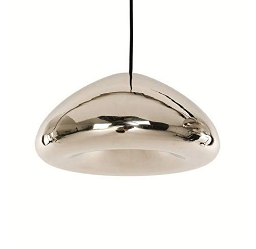 W&HH Creative Brass Bowl Glas Kronleuchter, Galvanik Glas Kronleuchter Restaurant Dining Bar Licht und kreative Lampen, große Silberne Schüssel,Silver,30cm - Große Schüssel Kronleuchter