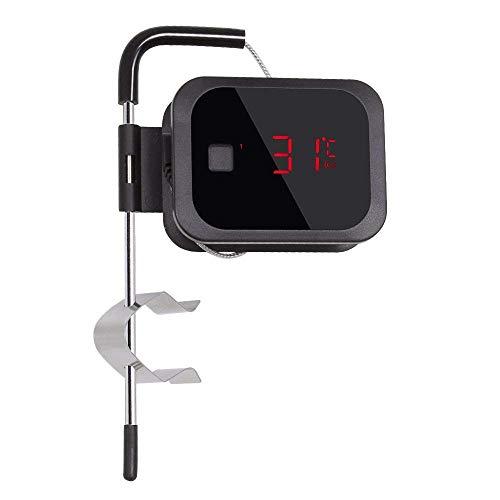 Inkbird Bluetooth 4.0 Thermometre sans Fil avec Sonde, Cuisine Thermomètre Digital Exterieur pour Mini Barbecue Electrique Four,Confiture,Fumoir Viande et Poisson (Thermometre+1 Sonde)