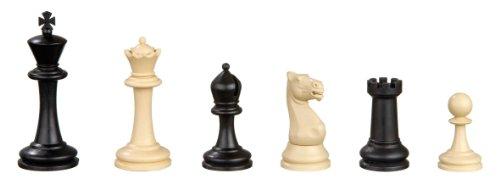 Philos 2015 - Schachfiguren Nerva, Königshöhe 95 mm, Kunststoff, schw. / creme, im Polybeutel