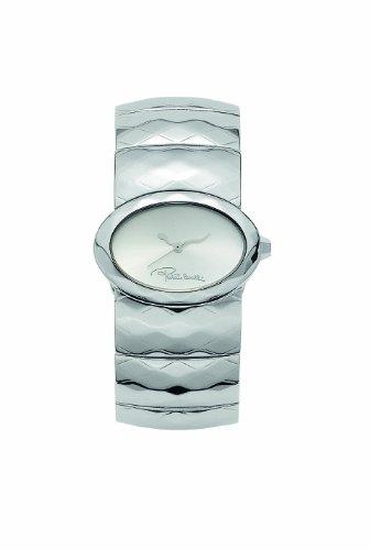 Roberto Cavalli R7253133515 - Orologio da polso da donna, cinturino in acciaio inox colore argento