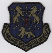 Applikation Aufbügler Patches Stick Emblem Aufnäher Abzeichen ,, USAF Patch GLCM USAFE 486 TMW Tactical Missile Wing Patch 1987 ,, 75 x 76 mm ,, -