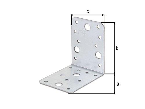 Preisvergleich Produktbild Winkelverbinder 90 x 90 x 65 x 2, 5 mm glatt Metallwinkel Winkel - 10 Stück