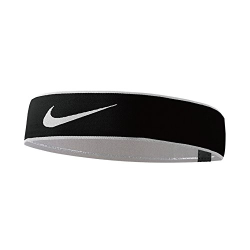 Nike Pro Swoosh Headband 2.0 Stirnband, Black/White, One size Nike Swoosh Stirnband