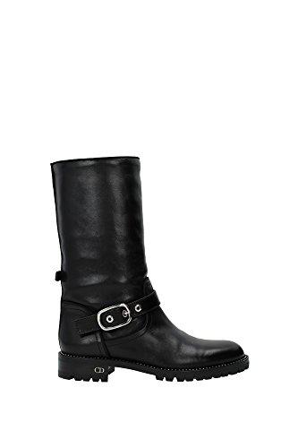 bottes-montantes-christian-dior-femme-cuir-noir-et-argent-kci371scfs900-noir-39eu