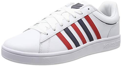 K-Swiss Herren Court Winston Sneaker, Weiß (White/Mars Red/Navy 162), 45 EU