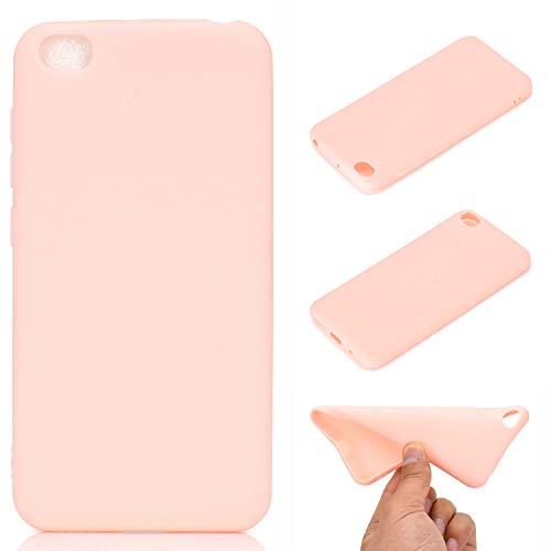 Kihying Funda para Xiaomi Redmi Go Funda Cáscara Case Pintado A Prueba de choques Silicona Suave de TPU Cubierta de teléfono (Rosa - THT05)