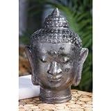 Buddha Glas Kopf gefrostet