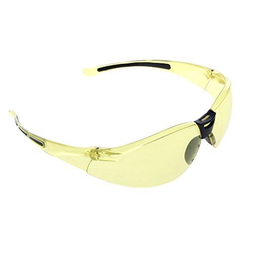 Jiamins UV Schutz Schutzbrille Motorrad Brillen Lesebrille Anti Fog Brille (Gelb)