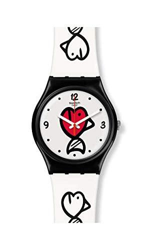 Swatch Orologio Analogico Quarzo Svizzero Donna con Cinturino in Silicone GB321
