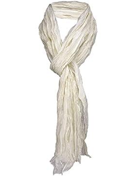 arrugado damas TigerTie pañuelo de seda en unicolor monocromo - bufanda tamaño 180 x 50 cm