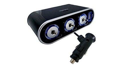 Kaiki Schalter, 3 Way Triple Auto Zigarettenanzünder Socket Splitter 12V / 24V + USB + LED Lichtschalter Ac-leistungsschalter-panel