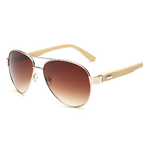 Sport-Sonnenbrillen, Vintage Sonnenbrillen, Vintage Pilot Wood Sunglasses Men Women UV400 Gradient Sun Glasses Driver Sport Eyewear Original Bamboo Sunglass Male picture Farbe Clear Red