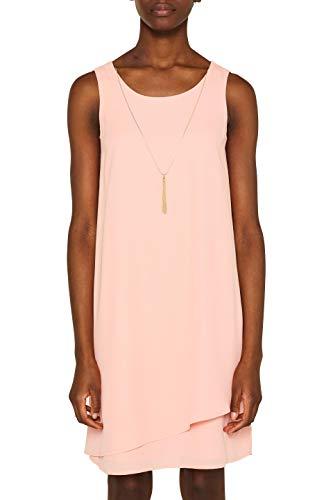ESPRIT Collection Damen 049EO1E012 Kleid, Rot (Coral 645), (Herstellergröße: 40)