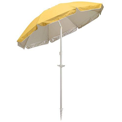 Sonnenschirm UV Schutz LSF 30 Strandschirm Spirale + Knickbar Ø156cm + Tragetasche Farbwahl...